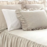 Pine Cone Hill Wilton Natural Cotton/Linen Bedspread | Gracious Style